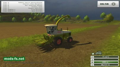Мод CLAAS JAGUAR 685 SL AND KLADO SKA 94 V 2 для Farming Simulator 2013