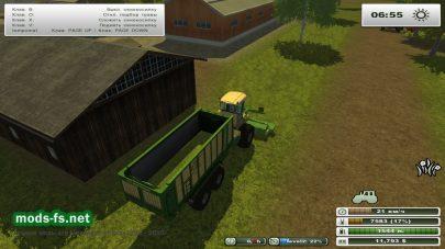Мод комбайна для заготовки травы