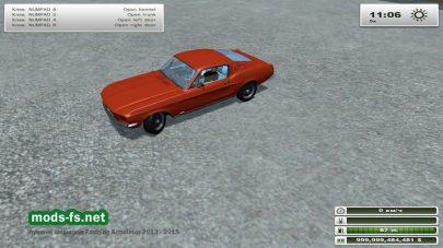 Автомобиль MUSTANG GT500 для FS 2013