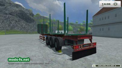 Прицеп для перевозки деревьев