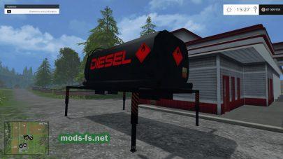 Absetzrahmen Tank