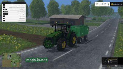 Три трактора John Deere