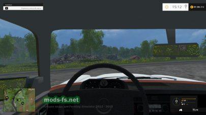 Вид в салоне автомобиля
