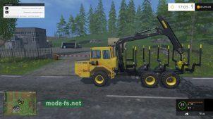 Volvo - лесовоз с манипулятором