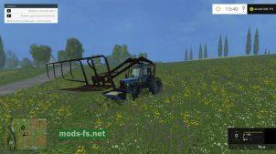 Трактор для погрузки сена и соломы в игре FS 2015