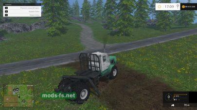 Трактор Т-150K для перевозки леса
