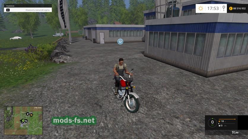 скачать мод на фермер симулятор 2015 на мотоцикл минск