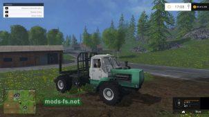 Трактор для перевозки бревен в FS 2015