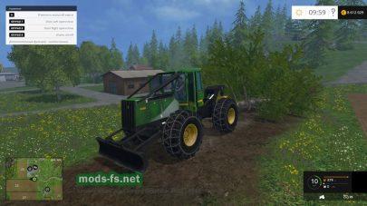 Трактор John Deere 548H для заготовки деревьев