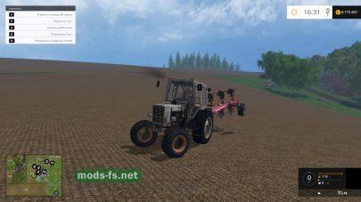Серый трактор