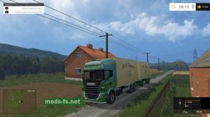 Тягач Scania с прицепом
