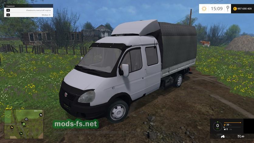 скачать мод газель для farming simulator 2015