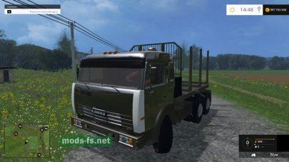 КамАЗ для перевозки деревьев