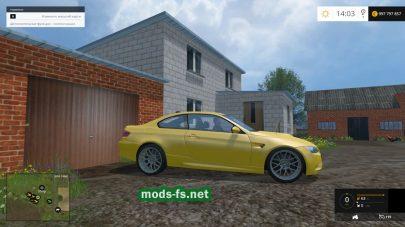 Мод BMW M3 для Farming Simulator 2015
