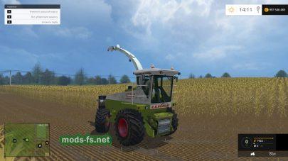 Комбайн для сбора кукурузы на силос