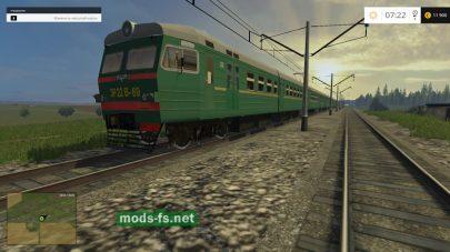 Поезд в игре Фермер Симулятор 2015