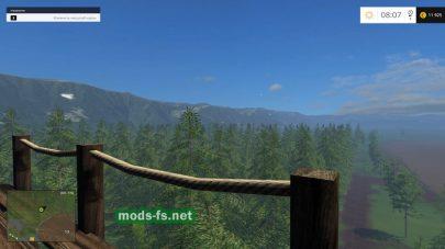 Большой лес для заготовки бревен