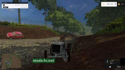 Трактор без кабины для Фермер Симулятор 2015