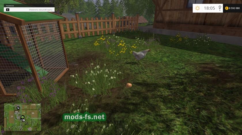 Собираем яйца вFarming Simulator 2015