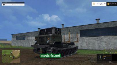 Гусеничный ГАЗ 66 для перевозки бревен