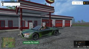 Мод спорткара Audi R8 V10