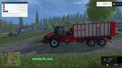 Трактор-подборщик для фермы