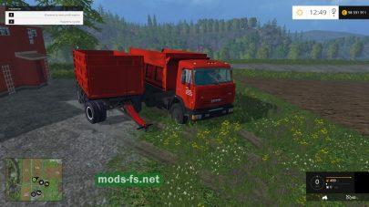 КамАЗ-65115 с прицепом
