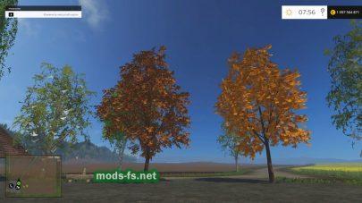 Мод «Осенние деревья»