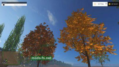 Объект для карты: осенние деревья