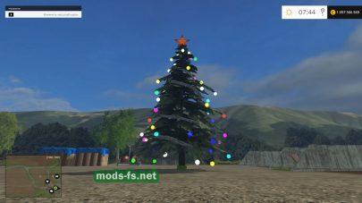Объект: елка с огнями