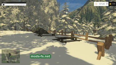 Зимний лес для фермы
