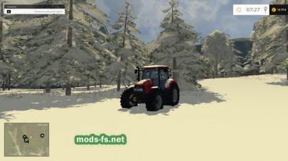 Трактор для уборки снега на карте Polski LAS 2015/16