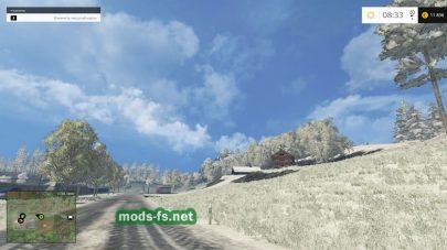 Снег на ферме
