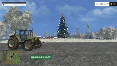 Снег и елка на в Фермер Симулятор
