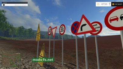 Мод Warning Traffic Signs