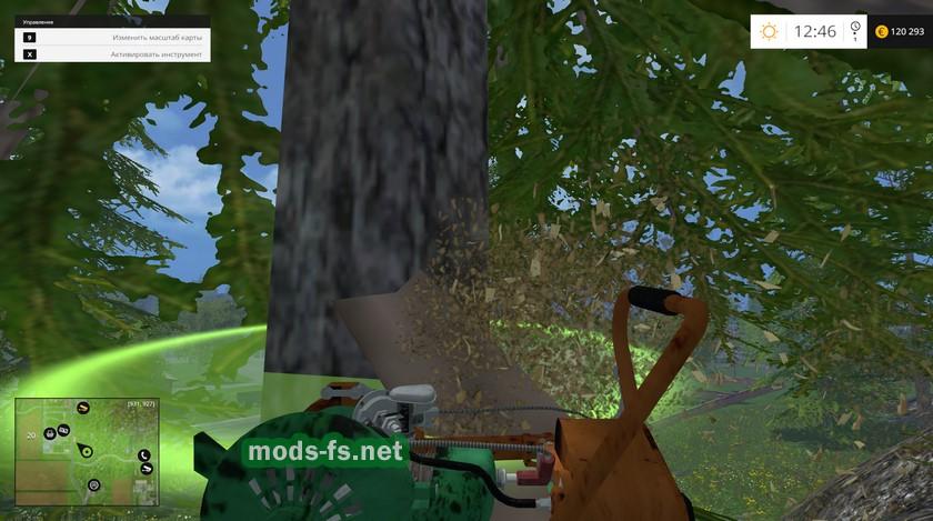 Скачать мод для farming simulator 2018 бензопила