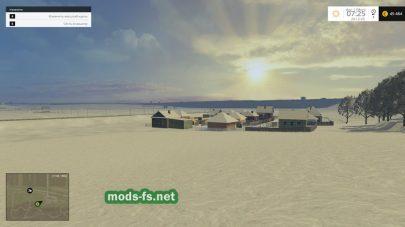 Фото: снег на карте Dumesti map