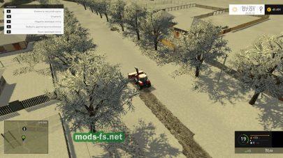 Чистка снега на карте