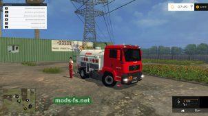 Тягач для перевозки топлива в FS 2015