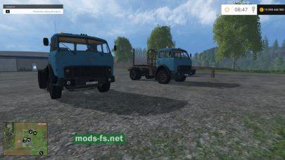МАЗ-504 с прицепами для перевозки леса в FS 2015