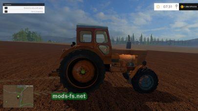Старый трактор Т-40М