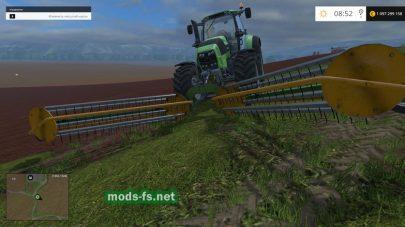 Ворошилка для травы в Фермер Симулятор 2015