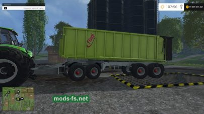 Мод прицепа Fliegl 4axle Rear Tipper