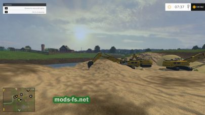 Продажа песка в Фермер Симулятор 2015