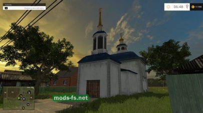 Полевое: церковь на карте