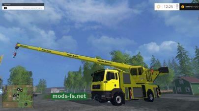 Машина MAN с краном для Farming Simulator 2015