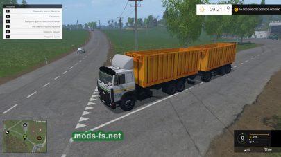 Большой грузовик MAZ 5516А8-336