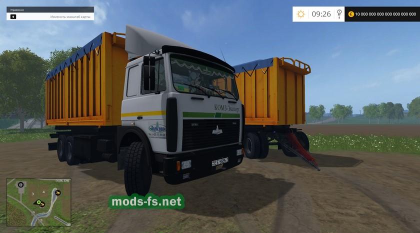 моды для Farming Simulator 2015 маз 5516 с прицепом скачать - фото 10