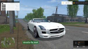 Мод спорткара Mercedes SLS AMG