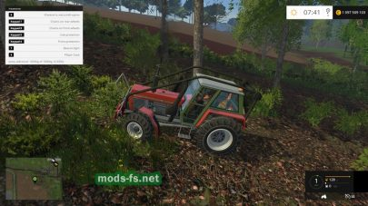 Трактор ZETOR CRYSTAL 12045 FOREST для FS 2015